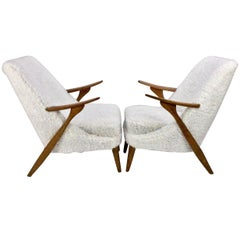Pair of Scandinavian Modern Lounge Chairs by Svante Skogh for Seffle Möbelfabrik