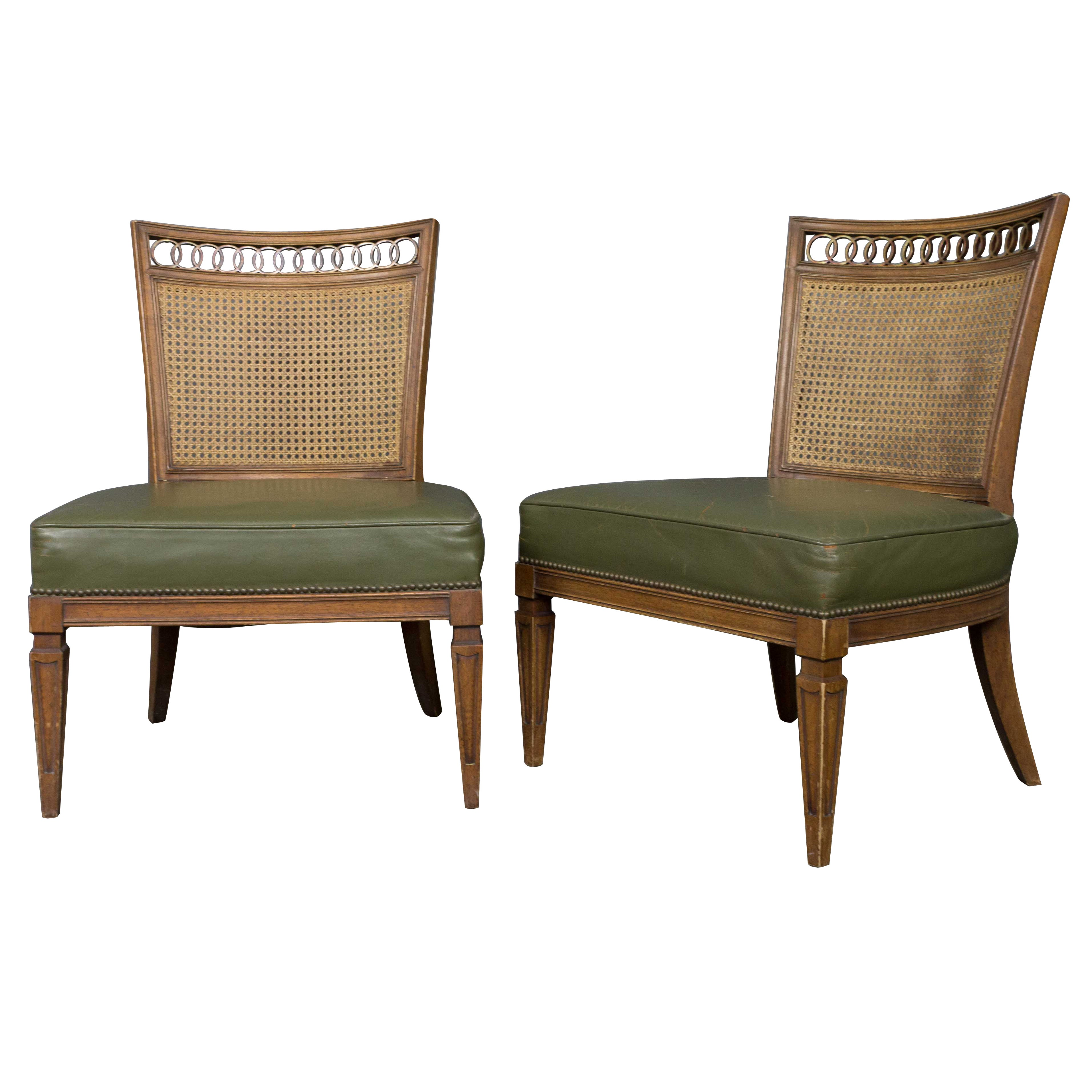 Pair of Italian Mid-Century Modern Side Chairs