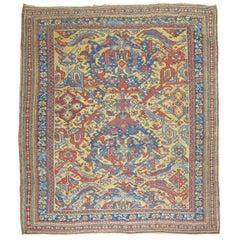Antique Turkish Smyra Oushak Rug