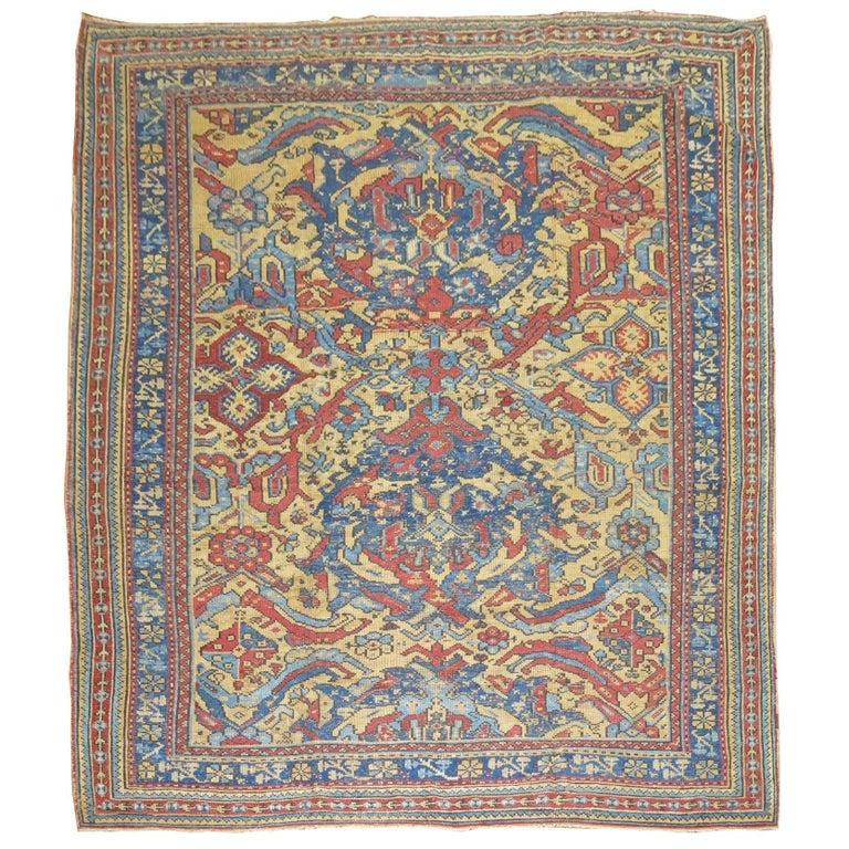 Oushak Rugs For Sale: Antique Turkish Smyra Oushak Rug For Sale At 1stdibs