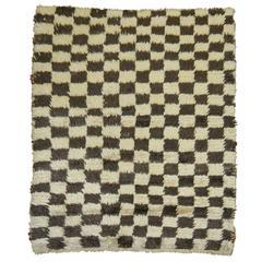 Turkish Shag Checkerboard Rug