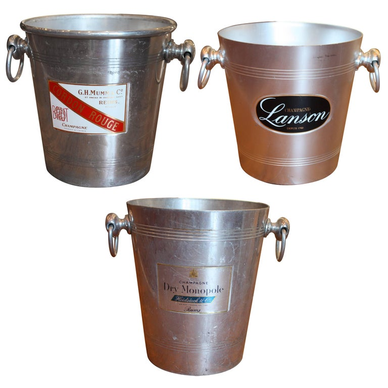 Collection of French Champagne Cooler Ice Bucket For Sale