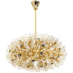 Huge Gold-Plated Chandelier by Emil Stejnar for Rupert Nikoll, Vienna