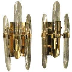 Italian Gold Sciolari Single Arm Wall Lights