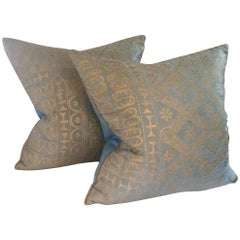 Pair of Custom Ashanti Fortuny Pillows