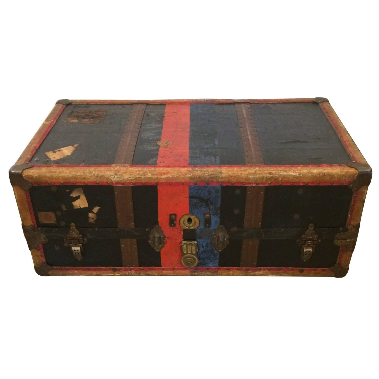 Incredible Crouch and Fitzgerald 19th Century Trunk Coffee Table