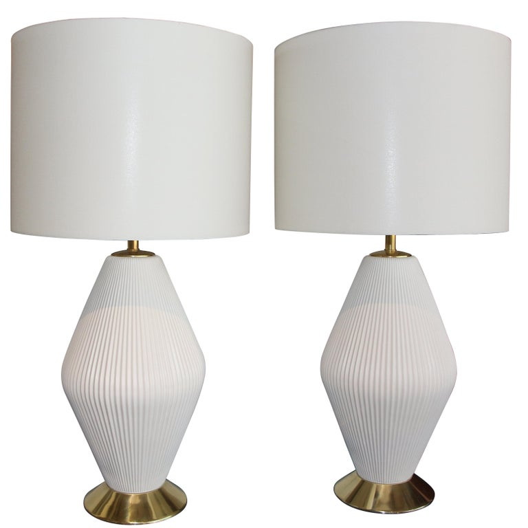 Gerald Thurston for Lightolier, 1950s, Porcelain Lamps