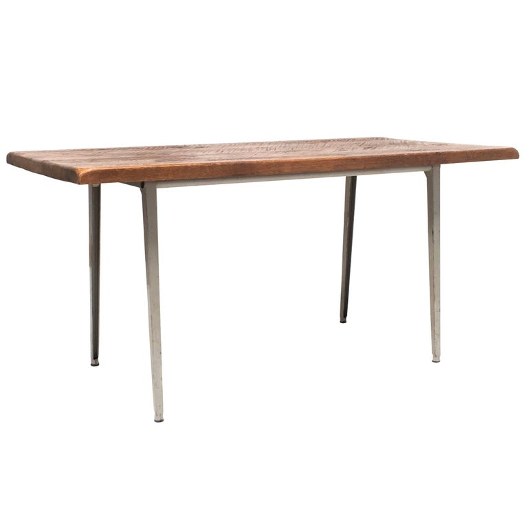 Friso Kramer 'Reform' Table or Desk with Reclaimed Rustic Oak Top 1