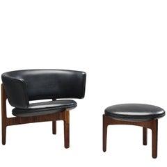 Sven Ellekaer Lounge Chair Denmark, 1962