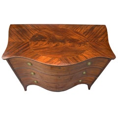 American Federal Serpentine Mahogany Commode