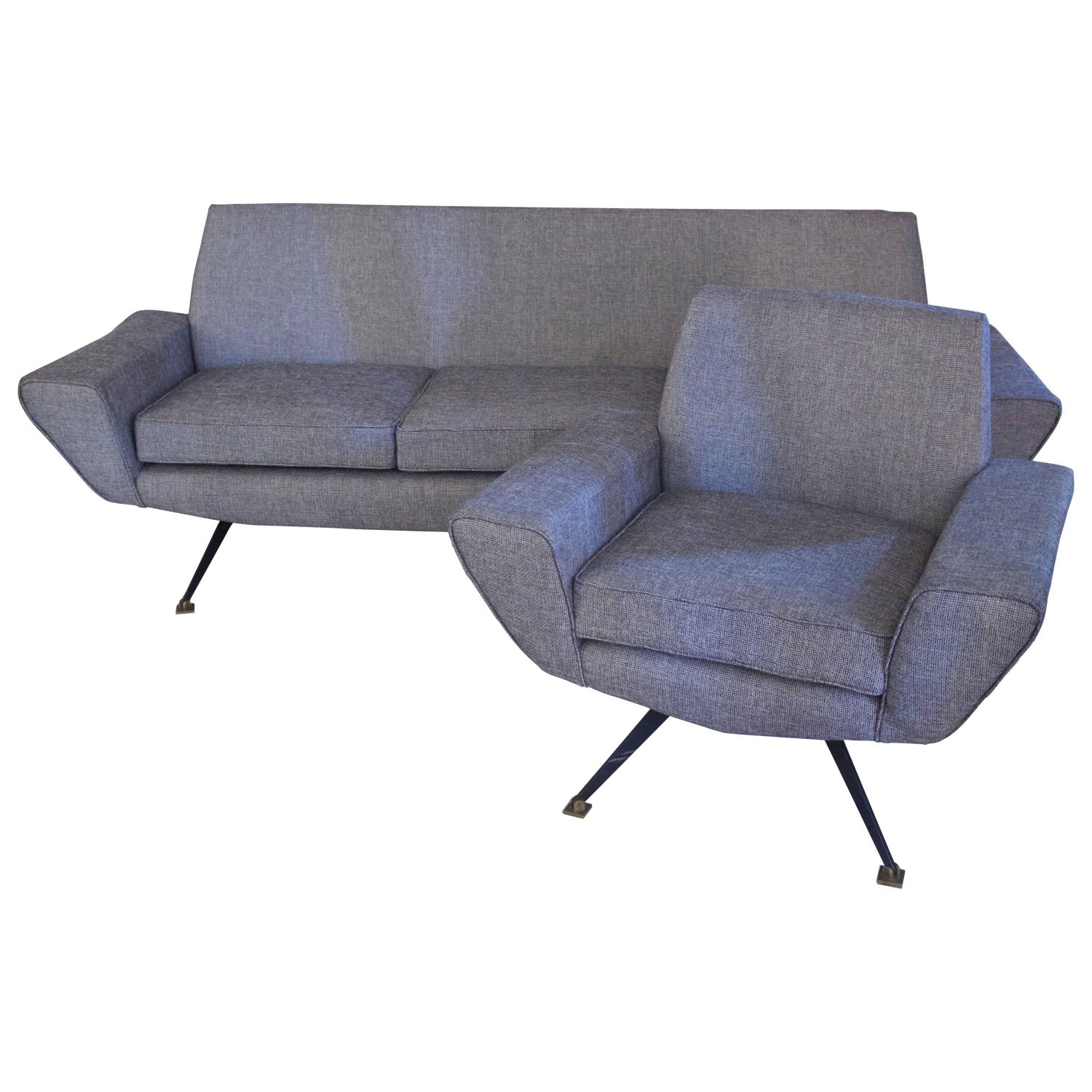 Minotti Living Room with a Sofa and Two Armchairs circa 1960