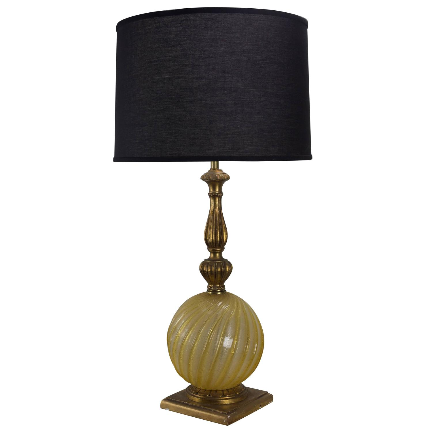murano glass globe lamp for sale at 1stdibs. Black Bedroom Furniture Sets. Home Design Ideas