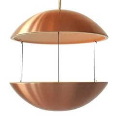 Copper Plated Aluminium Lighted Planter from Lyskaer, 1970s, Denmark