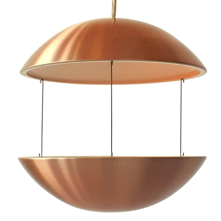 Copper Plated Aluminium Lighted Planter From Lyskaer