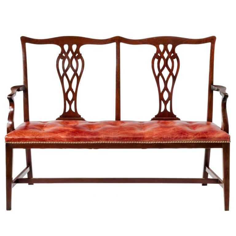 19th Century Mahogany Chair Back Settee