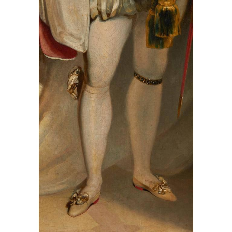 Painted After Sir Thomas Lawrence, Coronation Portrait of King George IV For Sale