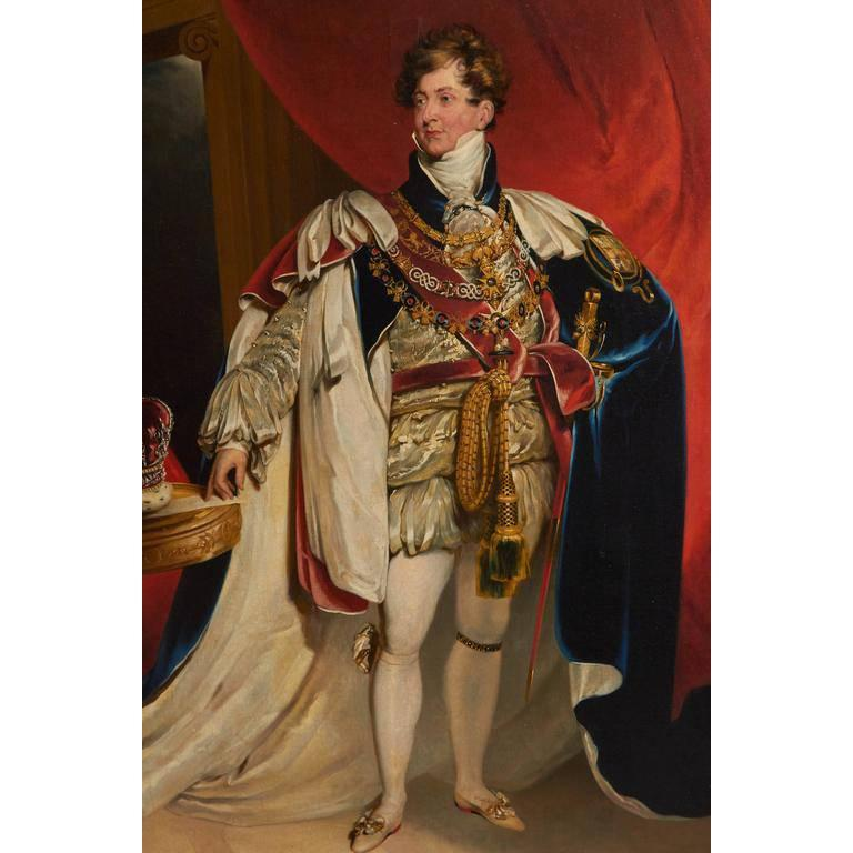 After Sir Thomas Lawrence, Coronation Portrait of King George IV In Excellent Condition For Sale In New York, NY