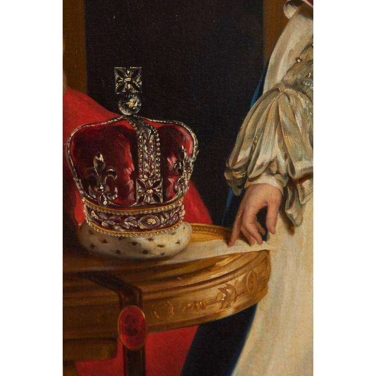Romantic After Sir Thomas Lawrence, Coronation Portrait of King George IV For Sale