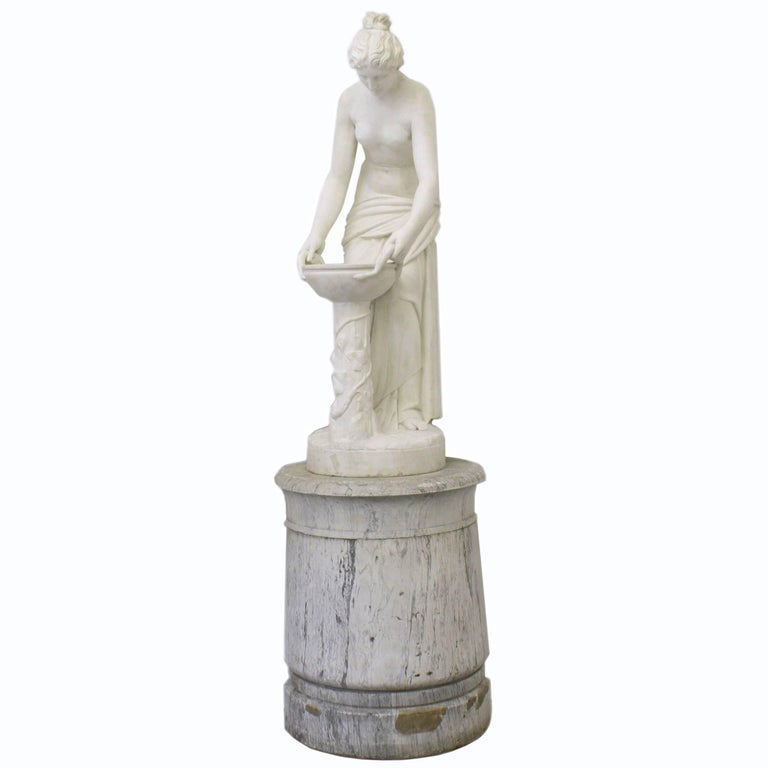 Mid-19th Century Neoclassical-Style Carrara Marble Sculpture