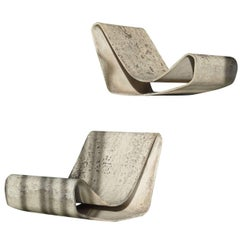 Pair of Loop Chairs by Willy Guhl