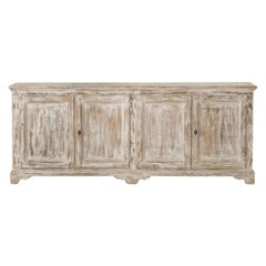 19th Century French Provençal Louis Philippe Style Enfilade in Original Paint