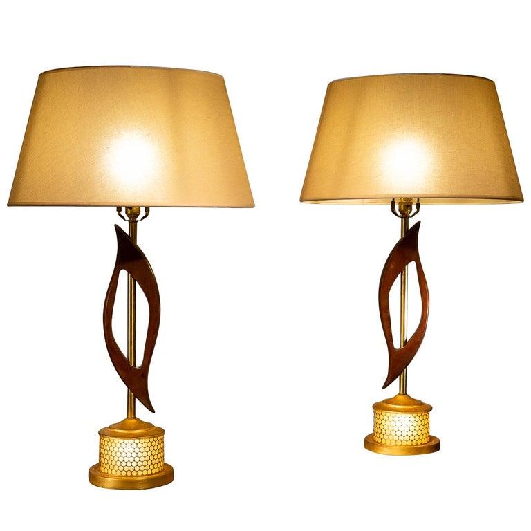 Pair of 1960s American Lamps