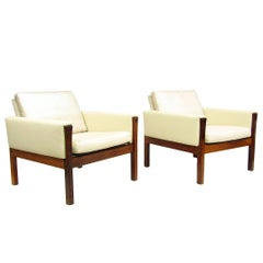 """Two """"AP62"""" Lounge Chairs in Rosewood by Hans Wegner"""