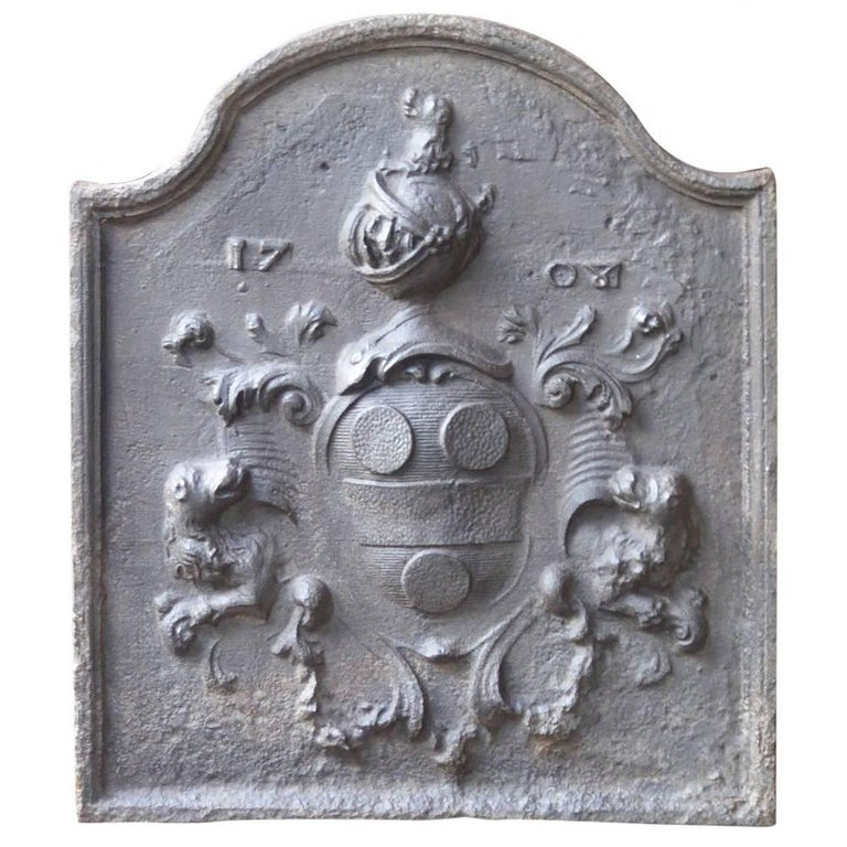 18th Century French 'Coat of Arms' Fireback