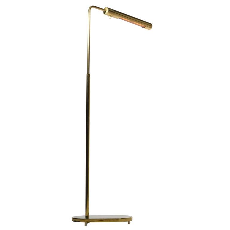 Brass Swivel Floor Lamp by Casella