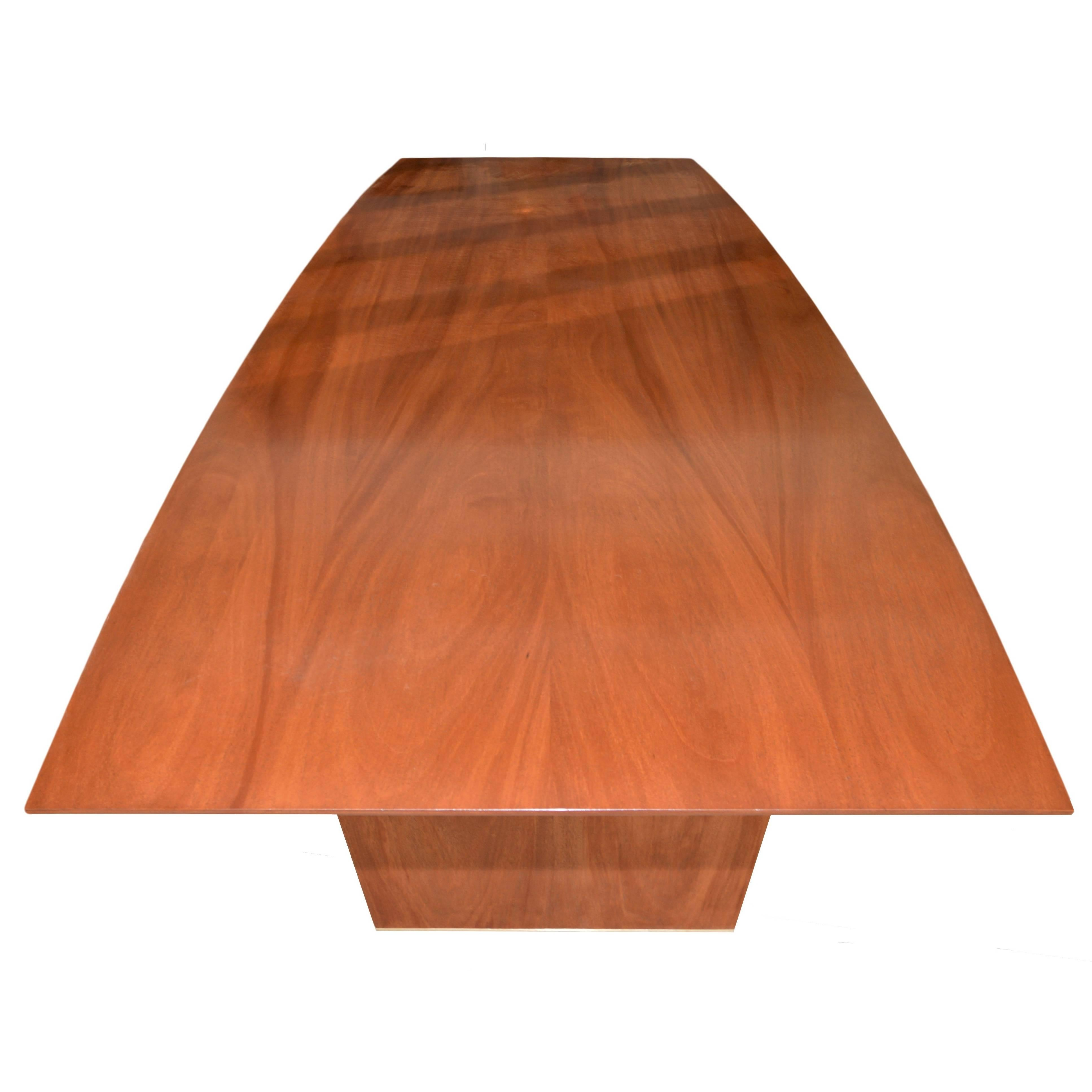 Dining Table in Solid Bookmatched Mahogany, Custom Made by Petersen Antiques