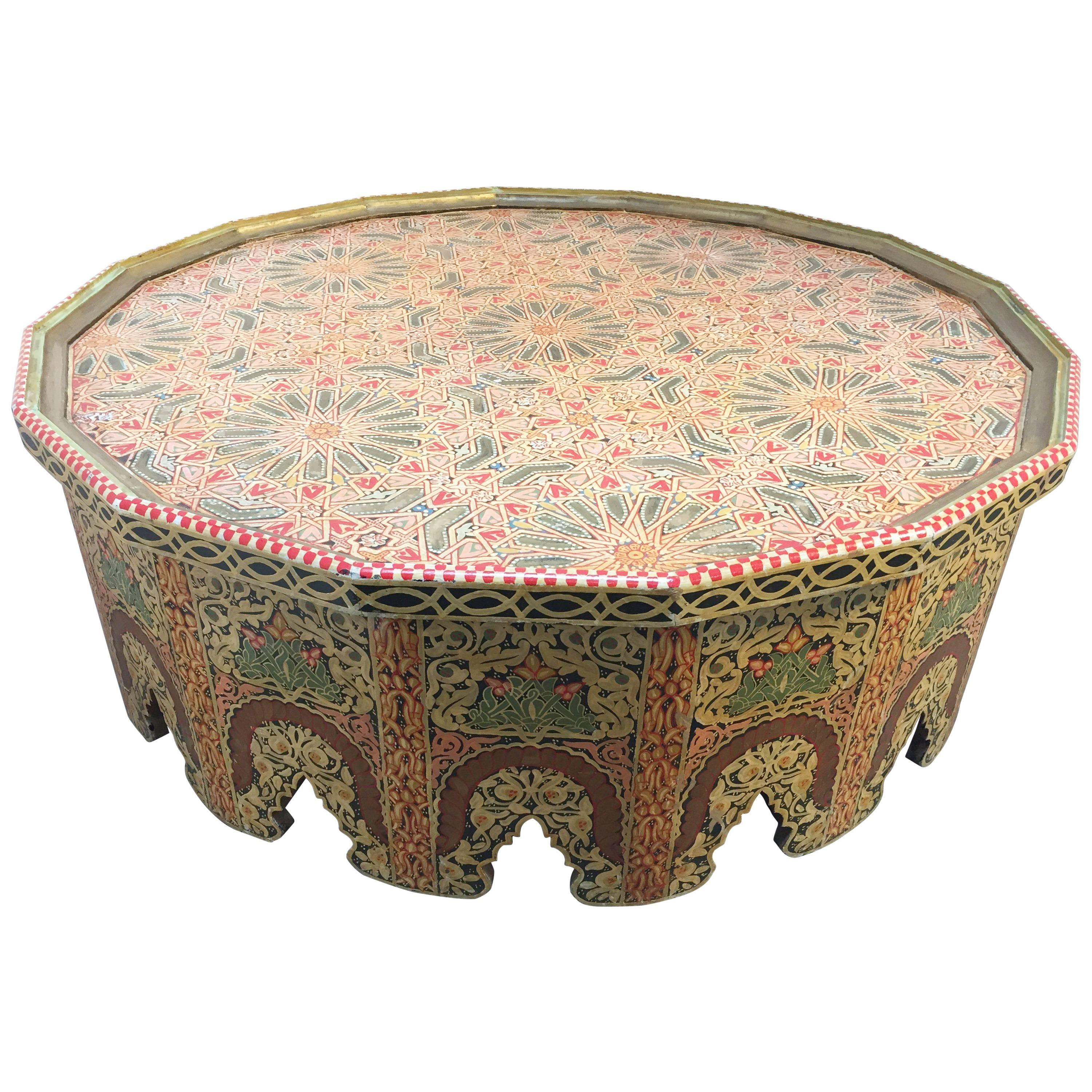 Coffee Side Table Wooden Marrakesh Tables Moroccan Dining Room