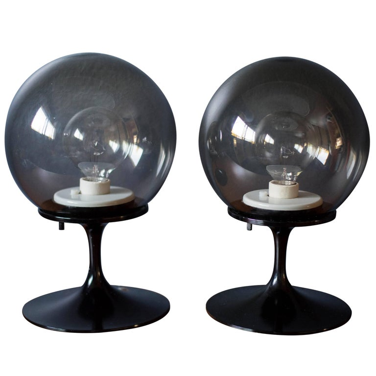 Pair of Bill Curry Stemlite Lamps for Design Line