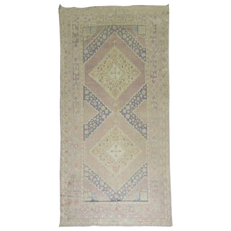 Lavender Vintage Samarkand Gallery Rug For Sale