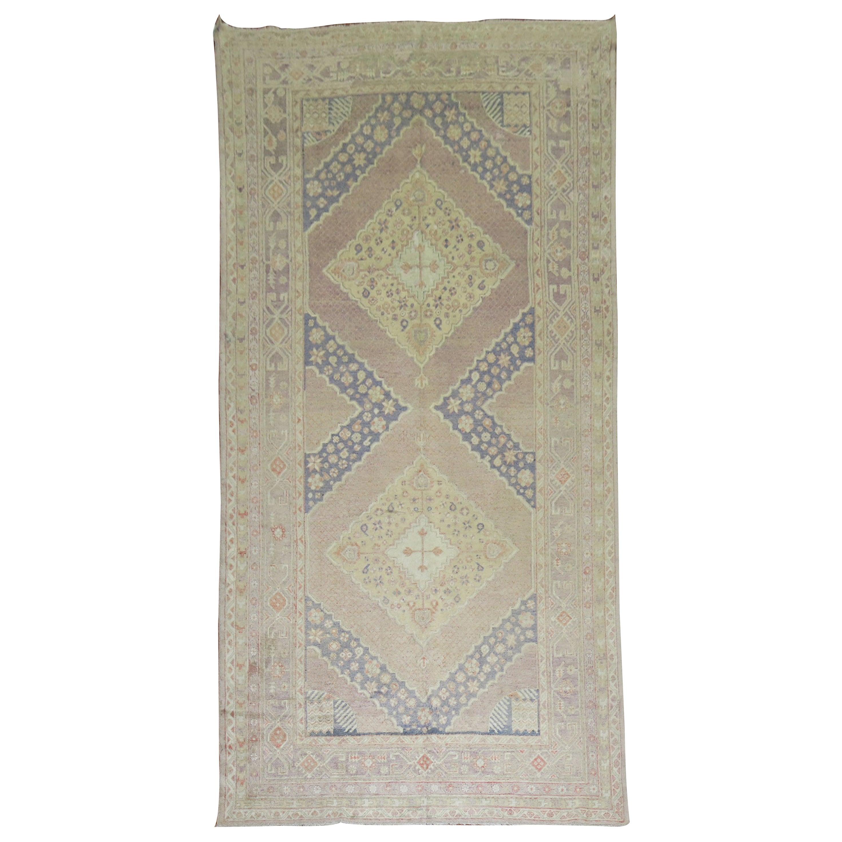Lavender Vintage Samarkand Gallery Rug