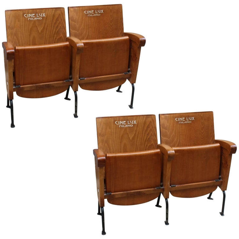 Beautiful Pair of Double Fold Up Seat from Cinema Cinelux  : 8718913orgmaster from www.1stdibs.com size 768 x 768 jpeg 51kB