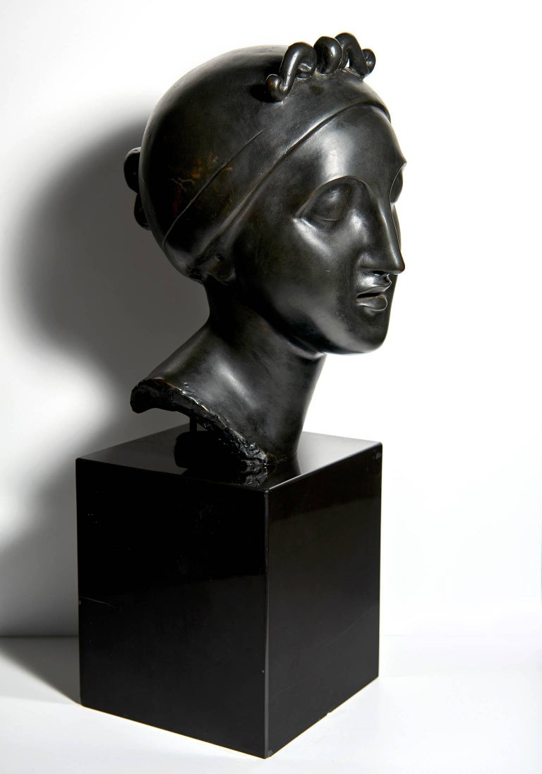 """Cast """"Ideal Head"""" Bronze by Elie Nadelman For Sale"""