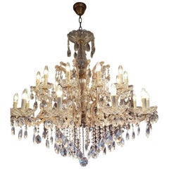 Large New Maria Theresia Chandelier with 24 Lights, Dutch