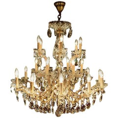 Large New Maria Theresia Chandelier, Impressive Model with 24 Lights, Dutch