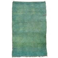 Green Moroccan Berber Rug