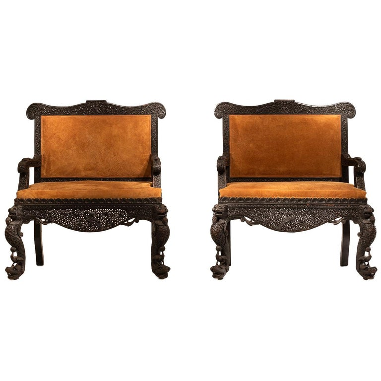 Pair Of Anglo Indian Sofas For