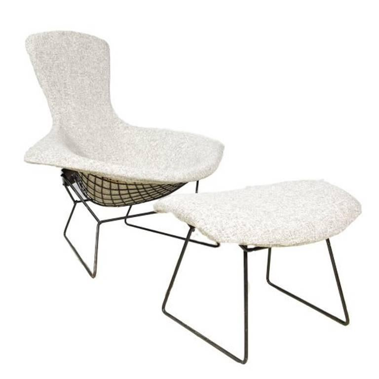 Bird Chair and Ottoman by Harry Bertoia for Knoll For Sale