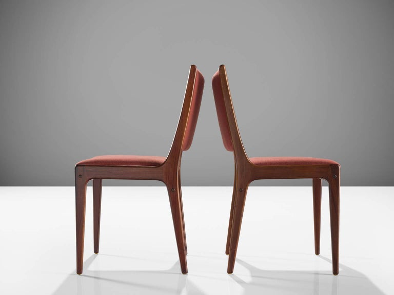 Danish High Back Rosewood Dining Chairs, 1960s In Good Condition For Sale In Waalwijk, NL