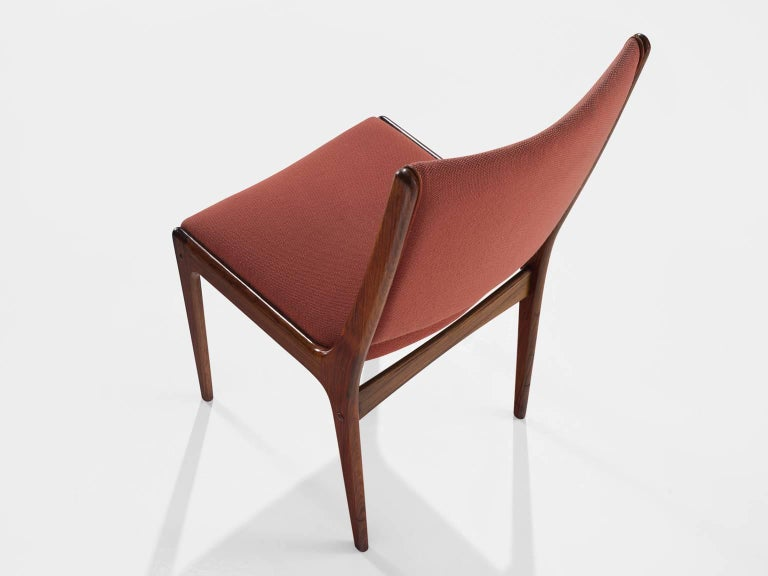 Danish High Back Rosewood Dining Chairs, 1960s For Sale 1