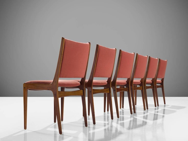 Scandinavian Modern Danish High Back Rosewood Dining Chairs, 1960s For Sale