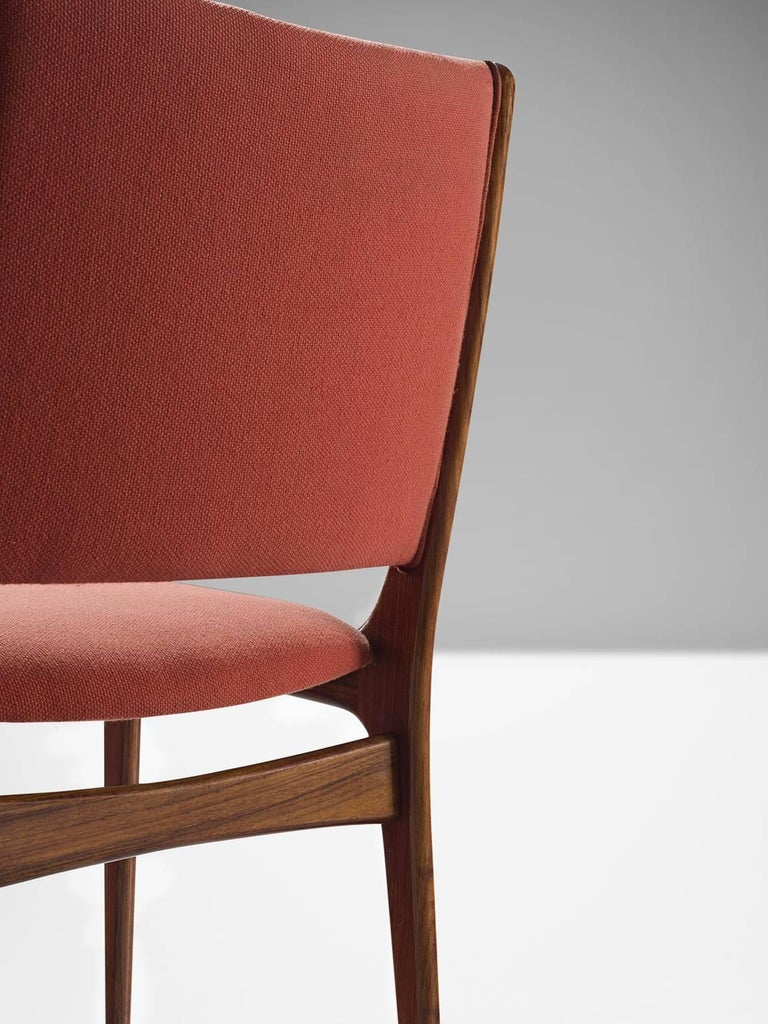 Mid-20th Century Danish High Back Rosewood Dining Chairs, 1960s For Sale