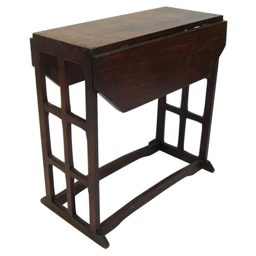Furniture 1800-1899 Arts And Crafts Cotswold School Liberty Style Oak Side Lamp Table