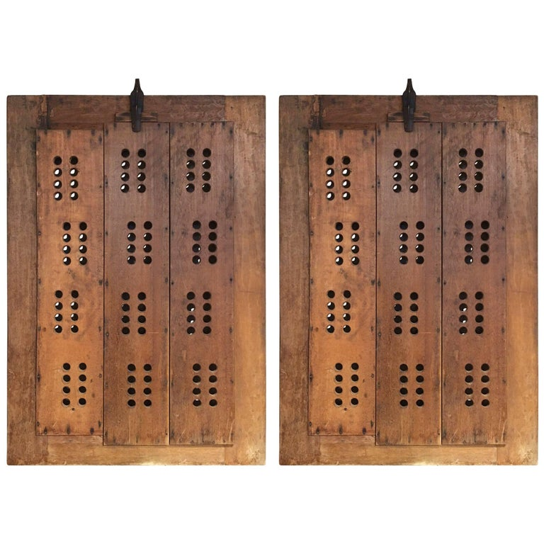Pair of Bold Graphic Wooden Doors
