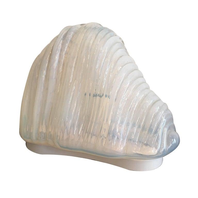 Carlo Nason Mazzega Murano Glass 1960 Iceberg Lamp