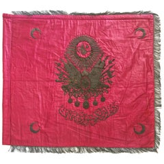 19th Century Ottoman Banner with the Tugrah of Sultan Abdulhamid II