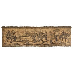 Orientalist Tapestry with 19th Century Scene Depicting Arabs Hunters